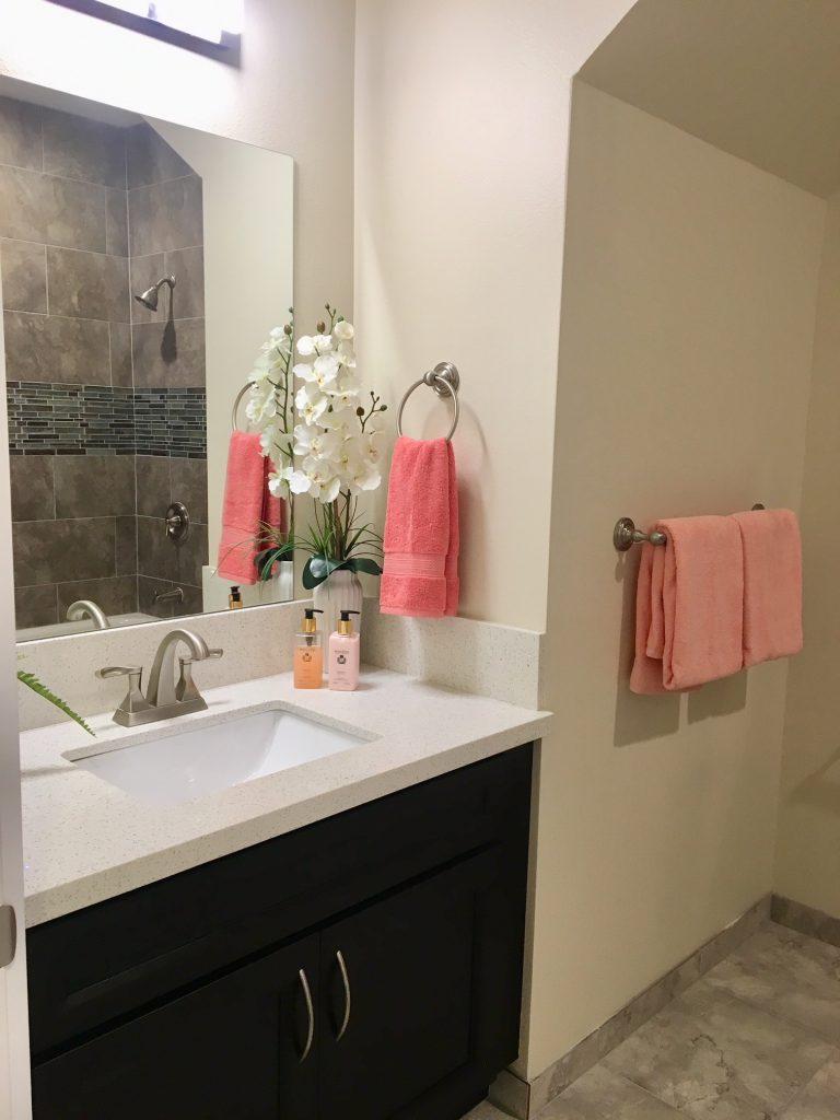 Bath in second unit
