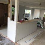 View into open floor plan kitchen/living room