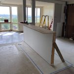 Ocean view with kitchen walls down